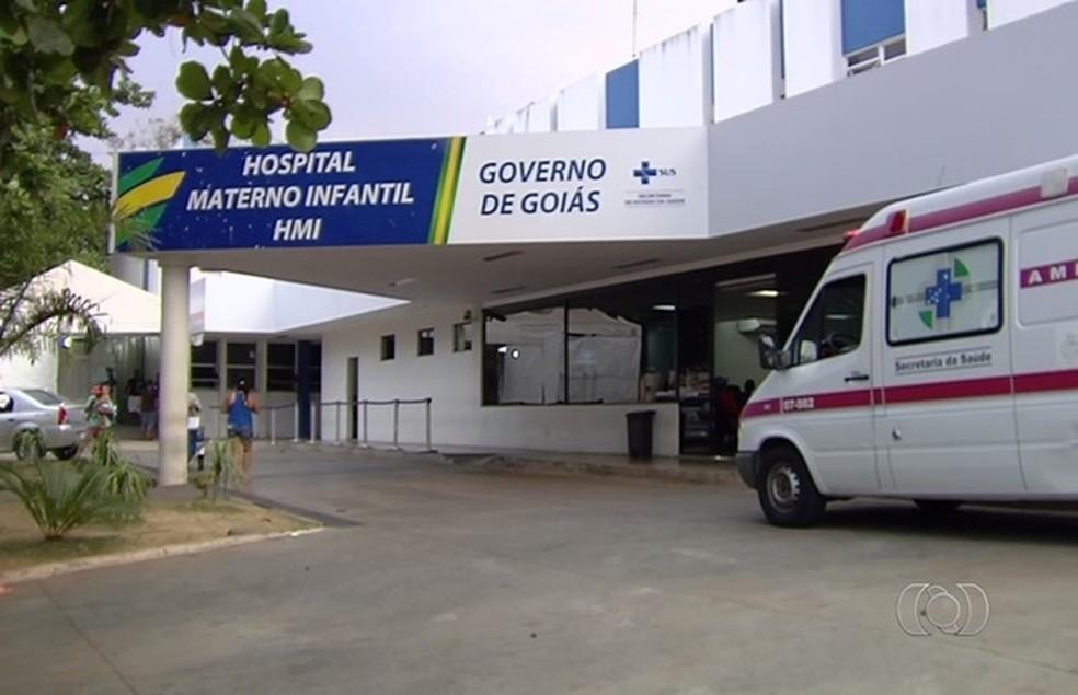 Direção do Hospital Materno Infantil de Goiás informou que investiga o caso — Foto: Reprodução/TV Anhanguera