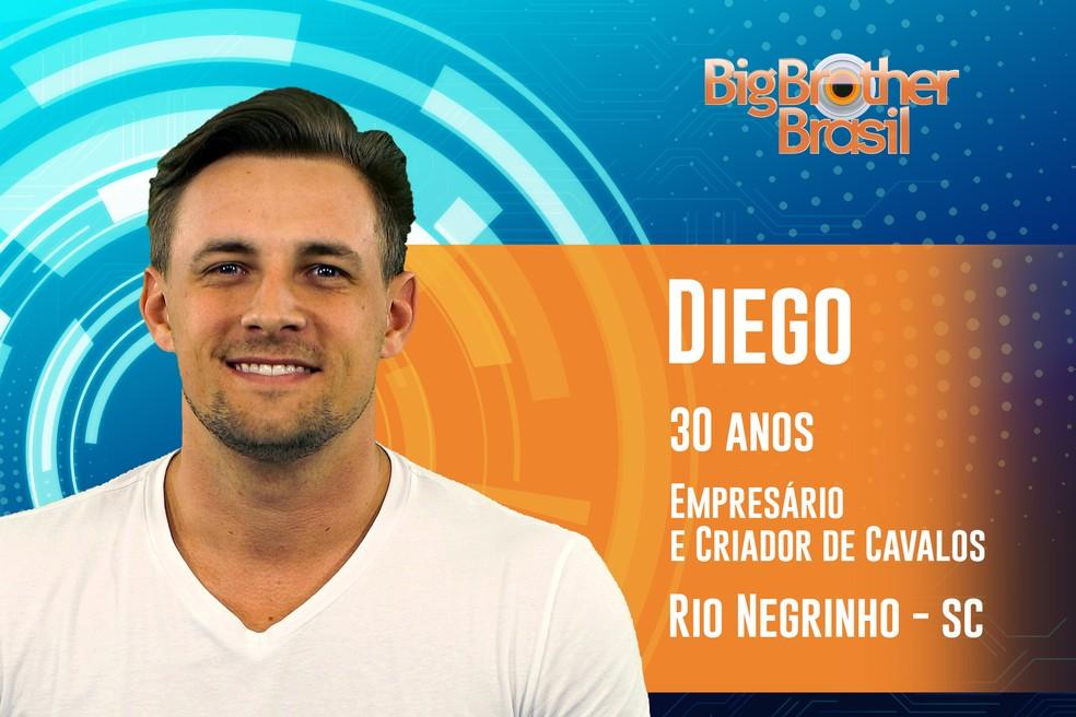 Diego é dono de uma loja de móveis e criador de cavalos — Foto: TV Globo