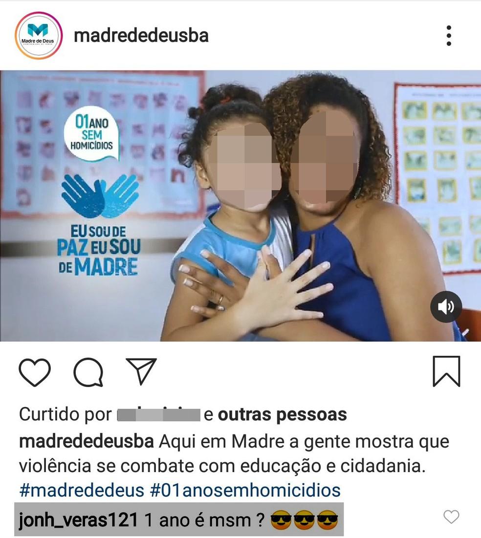 Suspeito ironizava segurança nas redes sociais, segundo SSP — Foto: Divulgação/SSP