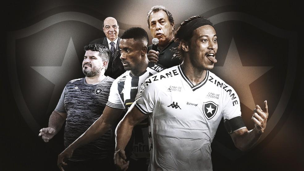Trocas de técnicos, contratações sem critério... os motivos para a queda do Botafogo — Foto: ge