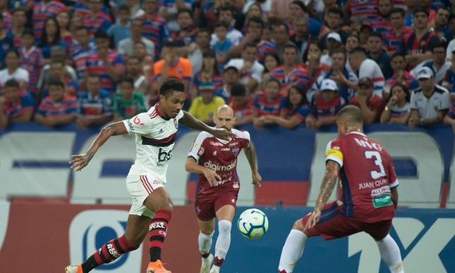 Lance do jogo do Flamengo x Fortaleza, ocorrido na semana passada