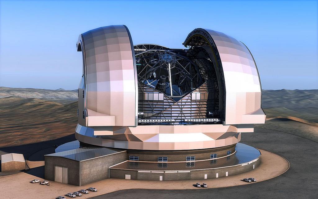 Projeto de como irá ficar o Extremely Large Telescope (ELT) (Foto: ESO/L. Calçada)