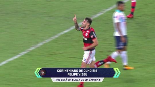 Em busca de camisa 9, Corinthians está de olho em Felipe Vizeu
