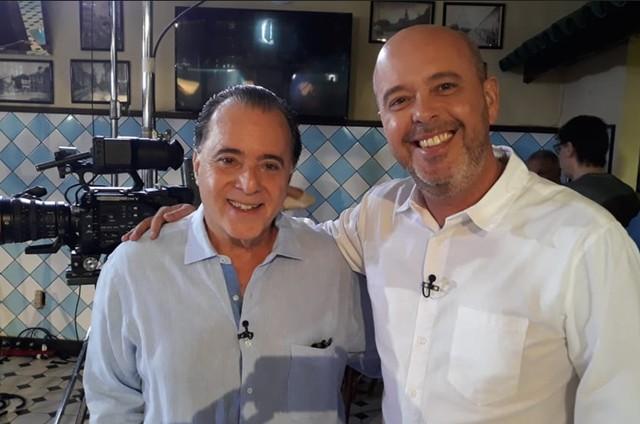 Tony Ramos gravou o 'Boteco do Escobar', do SporTV. (Foto: Divulgação)