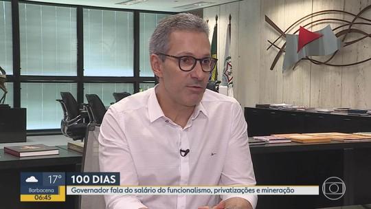 Política: governador Romeu Zema fala dos 100 dias de mandato