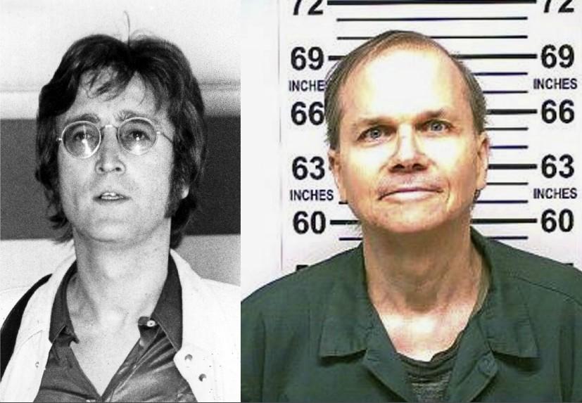 John Lennon e Mark David Chapman (Foto: Getty Images/Divulgação)