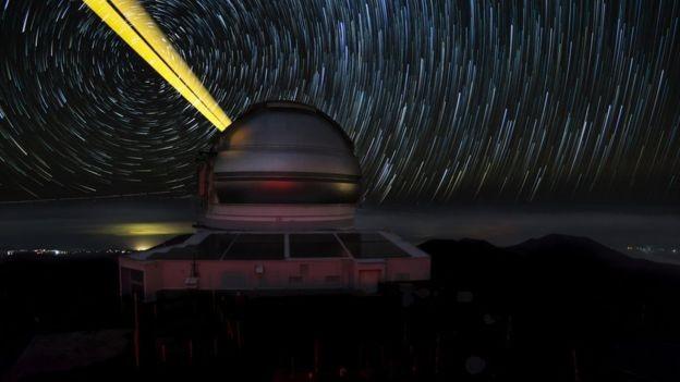 O telescópio Gemini Norte é um dos maiores já construídos (Foto: GEMINI OBSERVATORY/AURA)