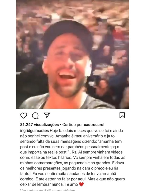 Ingrid Guimarães homenageia Paulo Gustavo (Foto: Reprodução Instagram)