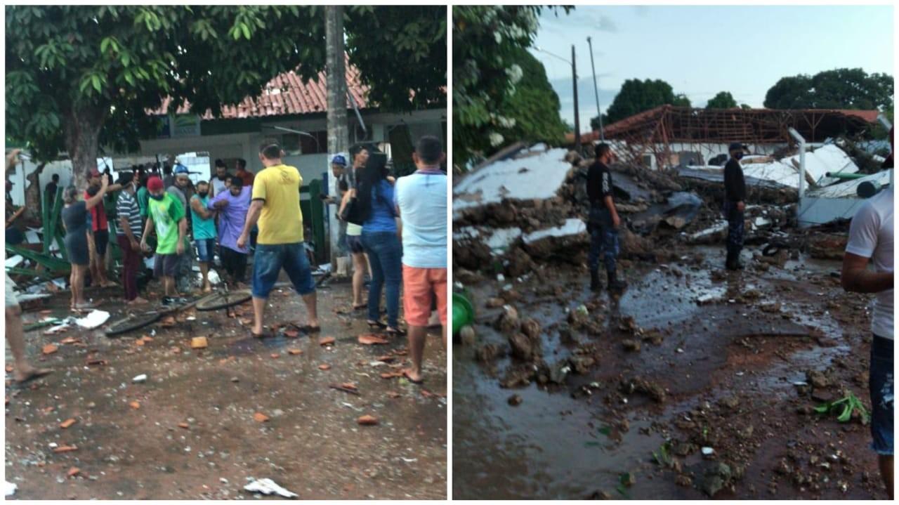 Reservatório de água desaba provocando mortes e destruição em Almeirim, no Pará