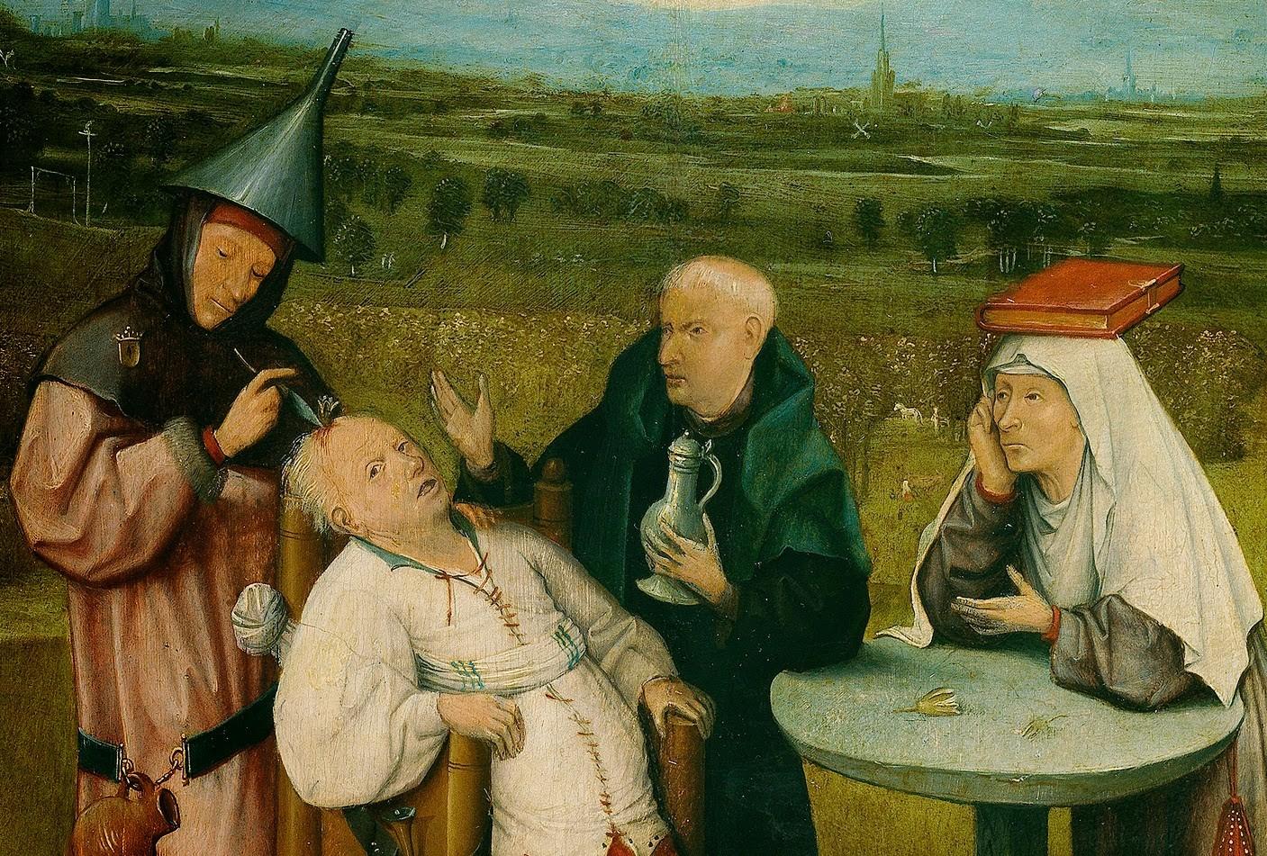 """""""A extração da pedra da loucura"""" - hieronymus bosch (Foto: wikimedia commons)"""