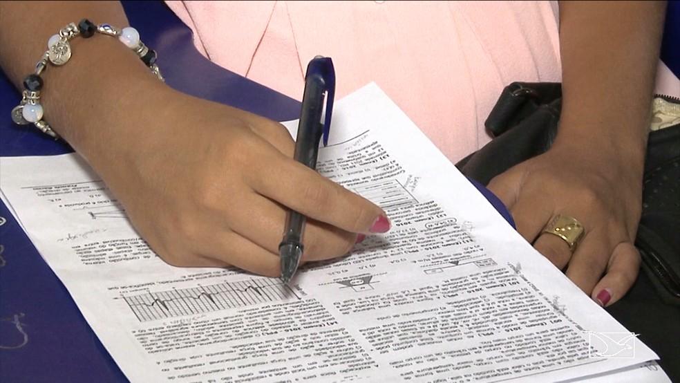 Provas do Encceja foram realizadas em 19 de novembro (Foto: Reprodução/TV Mirante)