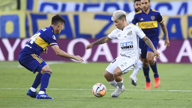 Soteldo em Santos x Boca Juniors
