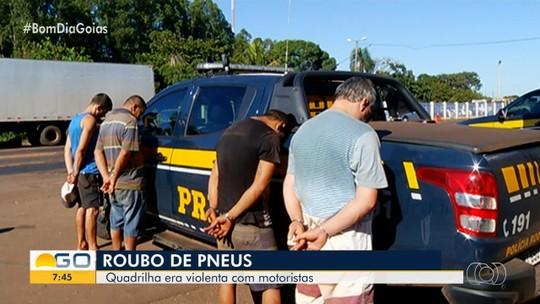 PRF prende suspeitos de roubar cargas e pneus de caminhão