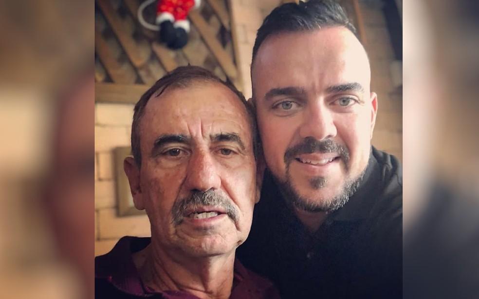Léo e Gustavo Mendanha, pai e filho — Foto: Reprodução/Instagram