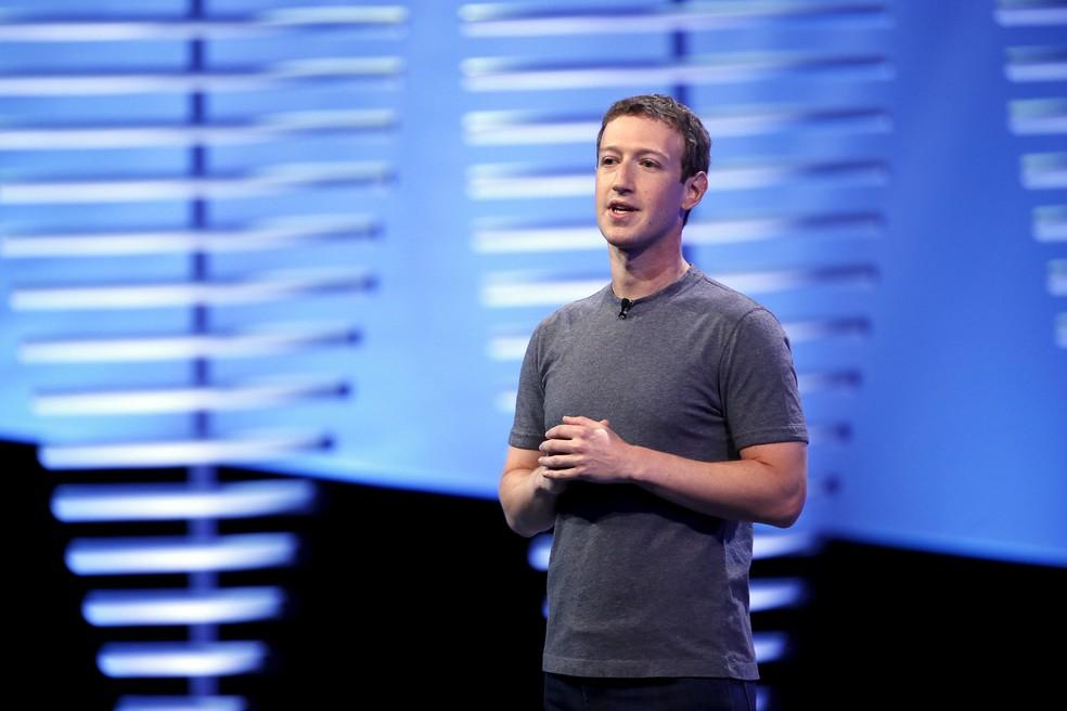 -  Mark Zuckerberg, CEO do Facebook, durante conferência de desenvolvedores da rede social.  Foto: Stephen Lam/Reuters
