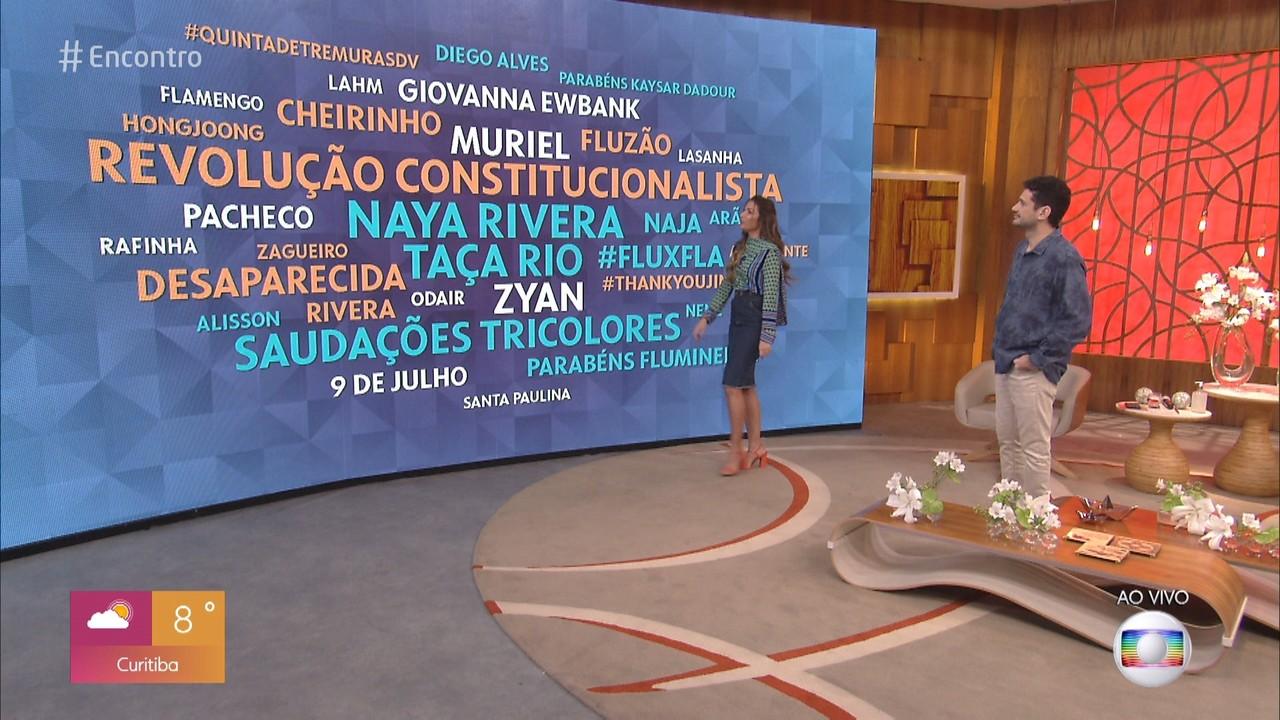 Patrícia Poeta comenta os assuntos que estão em alta nas redes sociais