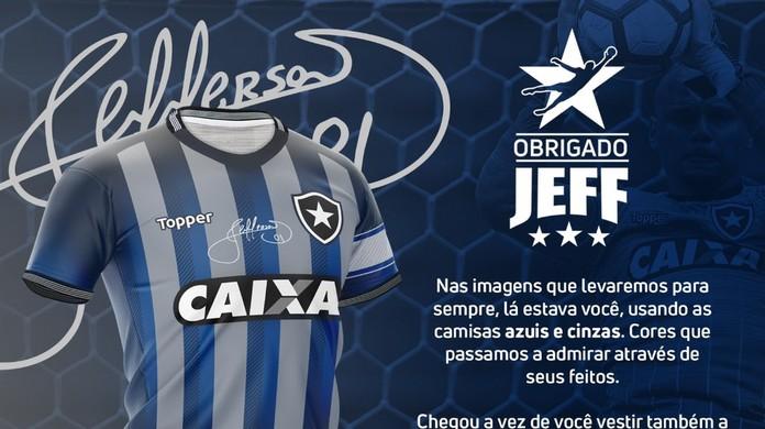Botafogo lança camisa especial para a despedida de Jefferson  em vídeo dd1978acdd9c4