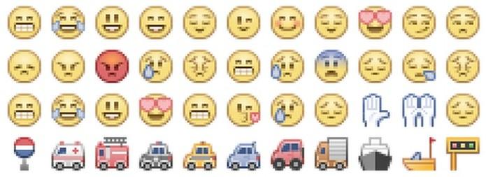 Emojis do Facebook tem cores claras (Foto: Reprodução/Emojipedia)