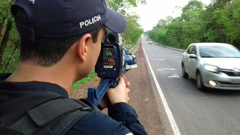 Radar móvel usado em rodovia pela Polícia Rodoviária Federal — Foto: Divulgação/PRF Tocantins