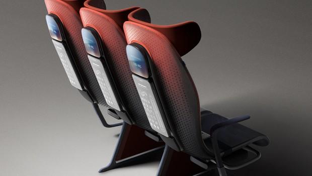 Assento eletrônico de avião (Foto: Divulgação)