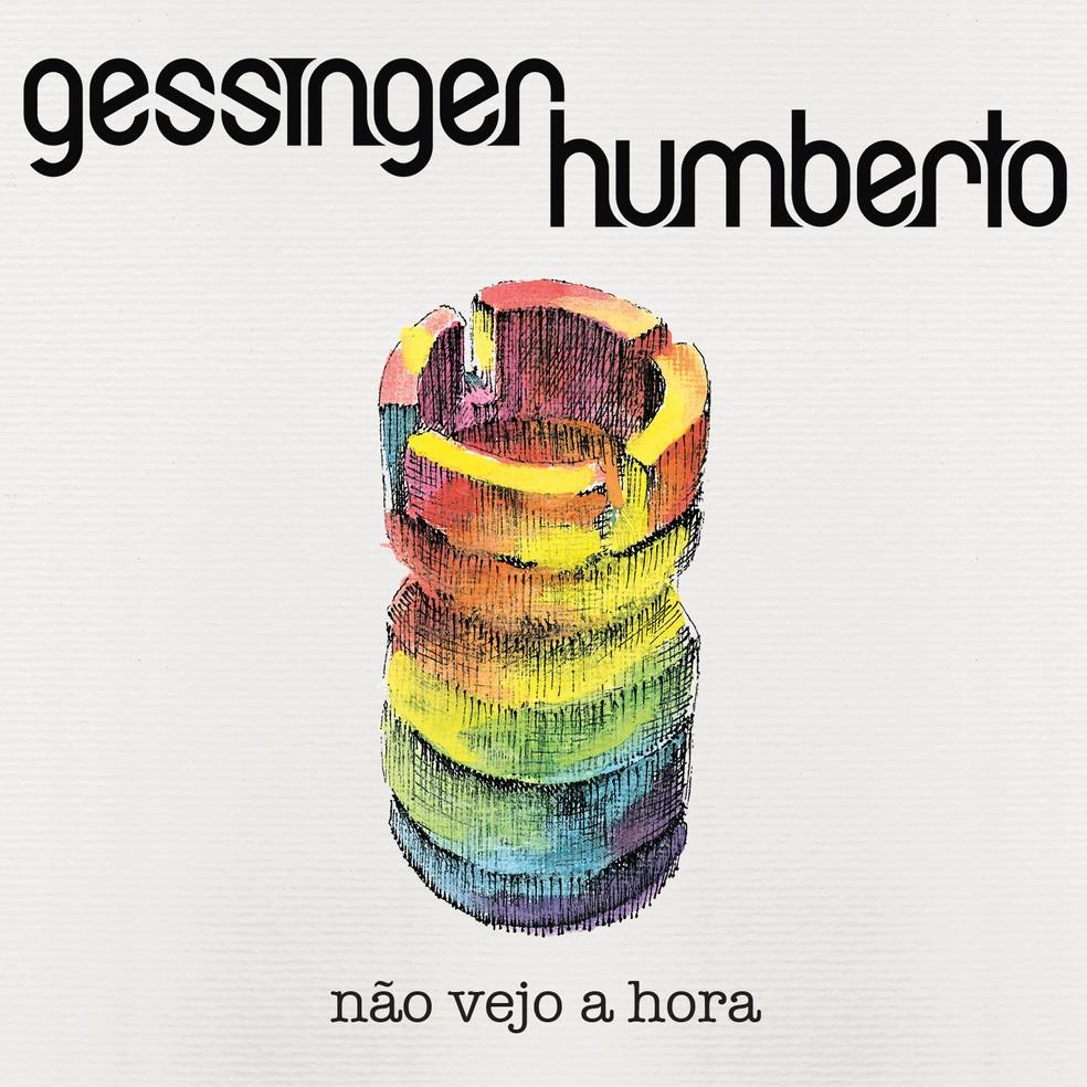 Capa do álbum 'Não vejo a hora', de Humberto Gessinger — Foto: Ilustração de Felipe Constant