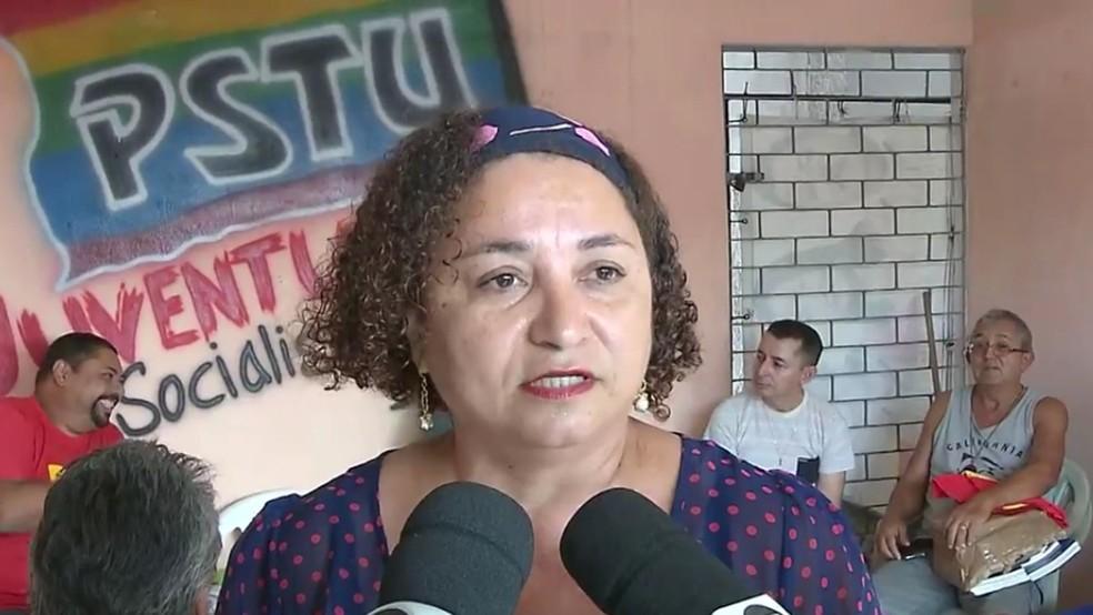 PSTU confirmou candidatura de Rama Dantas ao Governo  da Paraíba durante convenção realizada na sede do partido, em João Pessoa (Foto: TV Cabo Branco/Reprodução)