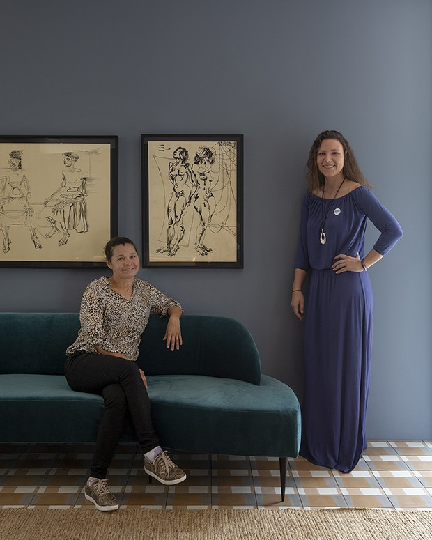 Maria de Lourdes Andrade de Souza e Nina Scheliga (Foto: André Klotz)