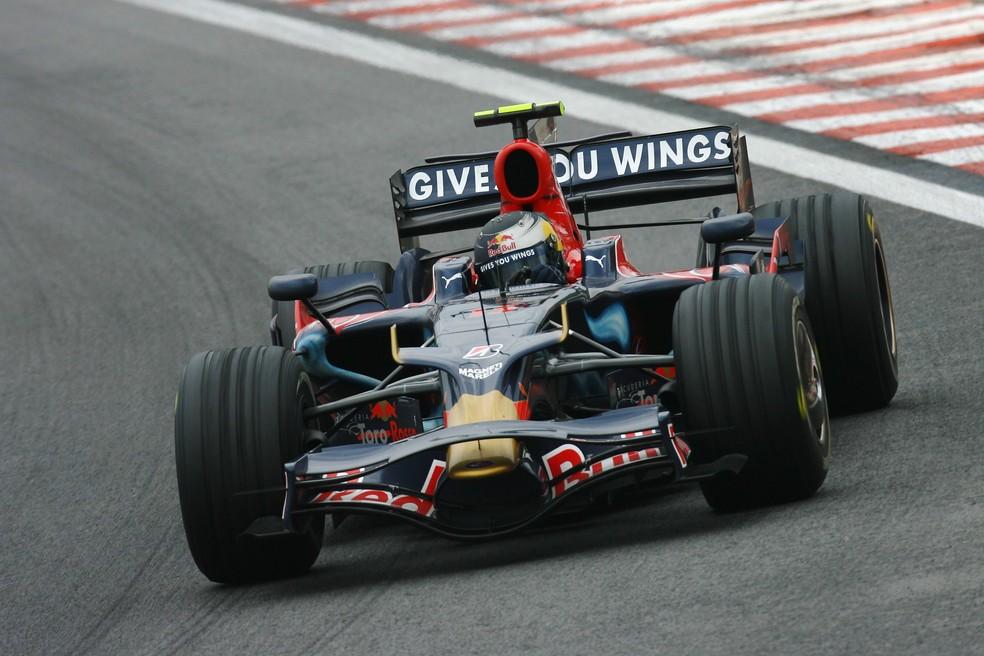 Sebastian Vettel durante o GP do Brasil de 2008, em Interlagos — Foto: Getty Images