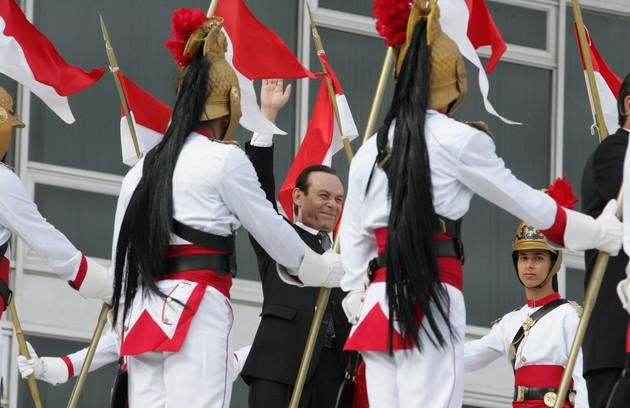 Na minissérie JK, como o presidente Juscelino  (Foto: TV Globo)