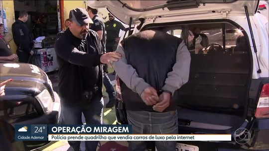 Polícia prende grupo suspeito de vender carros de luxo roubados pela internet