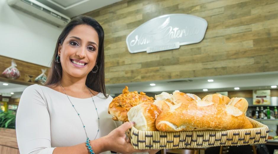Carolina Mira abriu a panetteria Nona Caterina em homenagem a avó do marido de Carolina (Foto: Jornal de Negócios do Sebrae-SP)