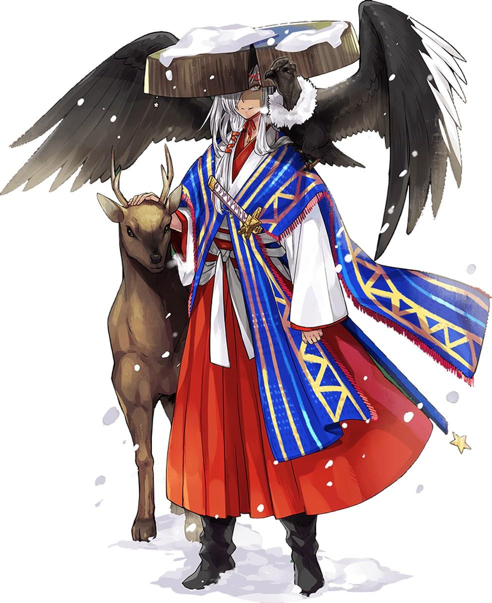 Samurai do Chile, Sa-Sa traz condor, ave símbolo do país, nos ombros — Foto: Divulgação/World Flags