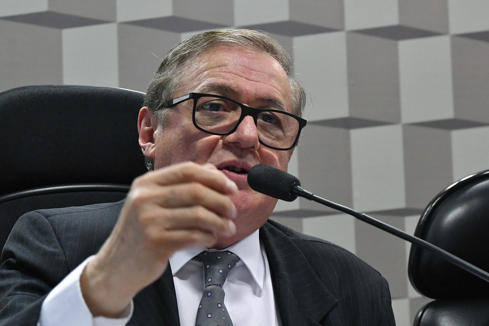 O ministro da Educação, Ricardo Vélez Rodríguez — Foto: Geraldo Magela / Agência Senado