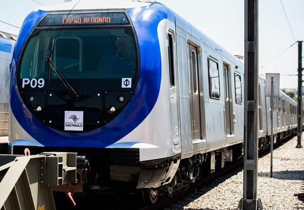 Trem da Linha 5-Lilás do Metrô de São Paulo (Foto: Reprodução/Facebook)