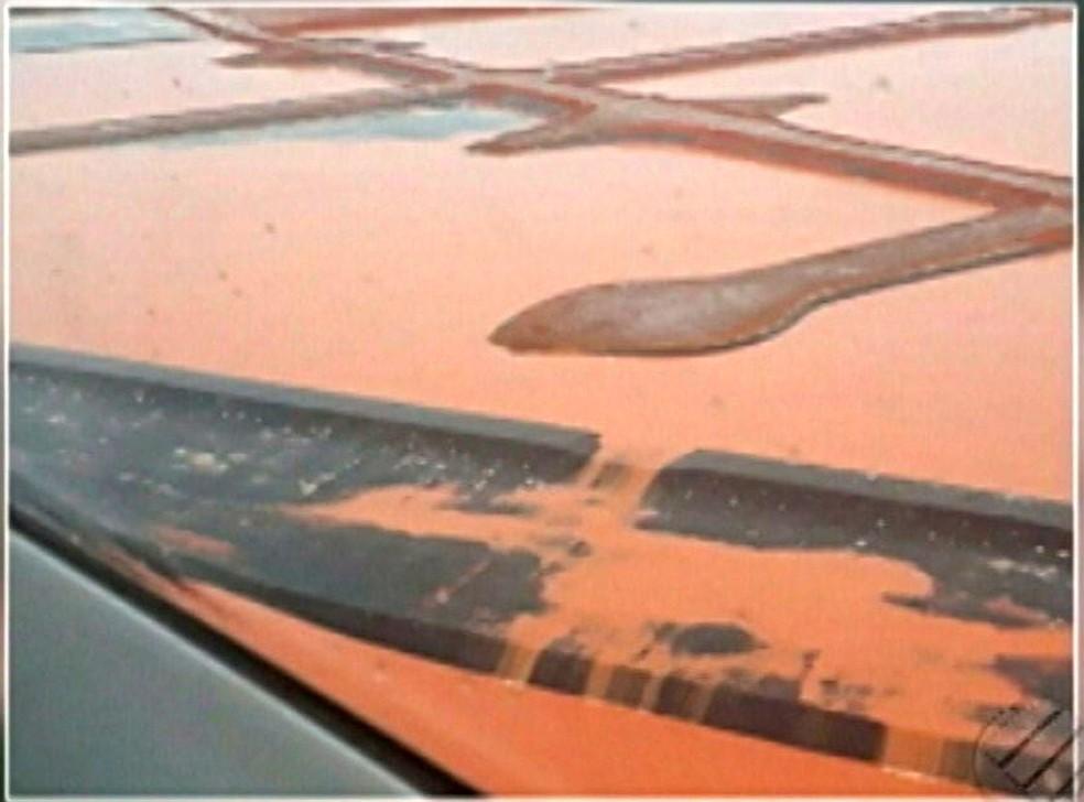 Fotos revelam o vazamento de rejeitos de minério em Barcarena (Foto: Reprodução/TV Liberal)