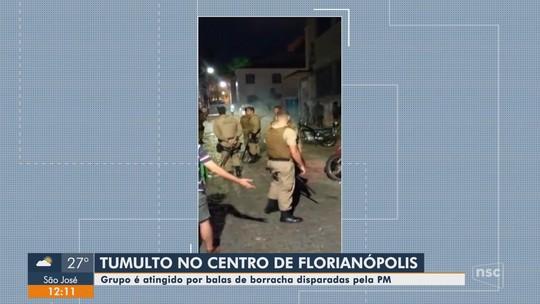 Músicos são feridos por balas de borracha disparadas pela PM em festa em rua em Florianópolis