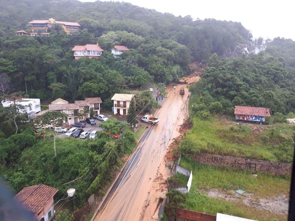 Morro da Lagoa da Conceição, Florianópolis (Foto: Eveline Poncio/NSC TV)