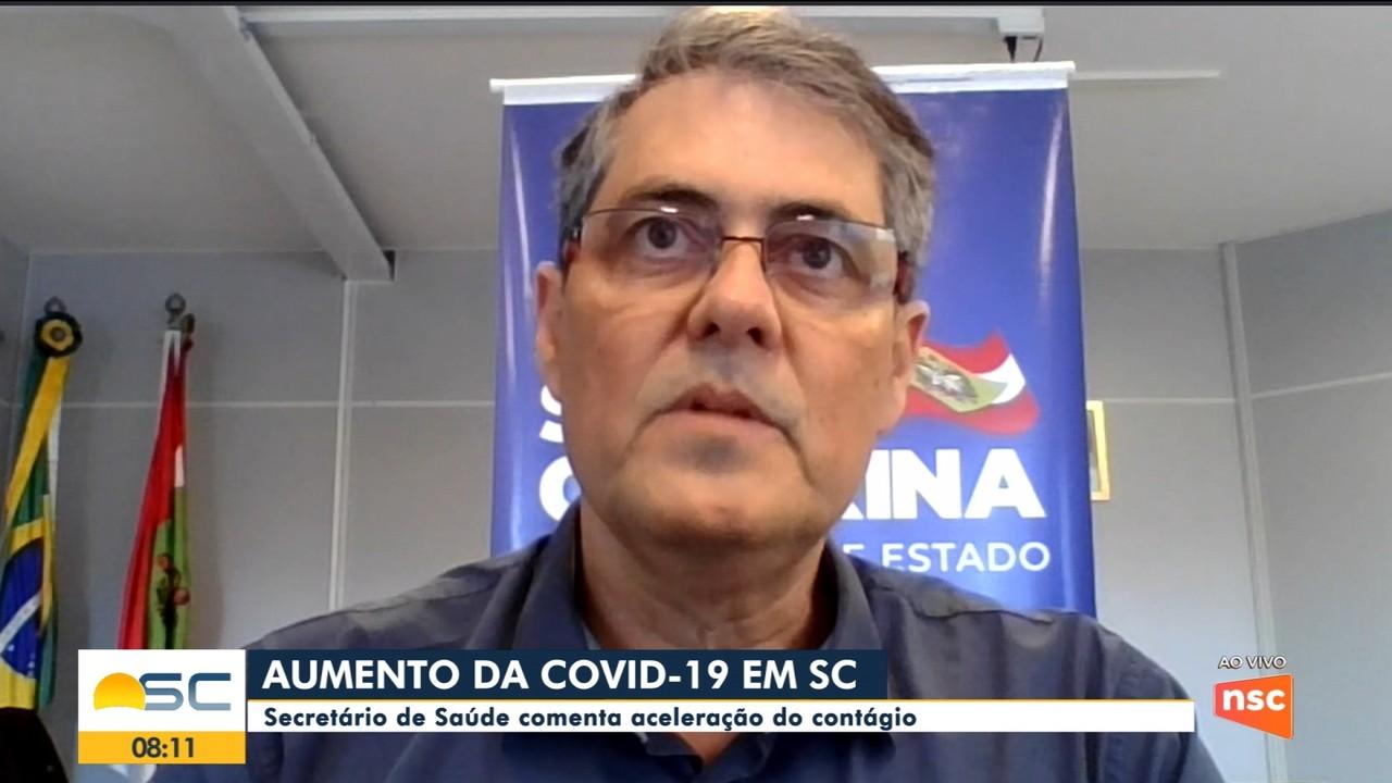Secretário de Saúde comenta aceleração do contágio em SC