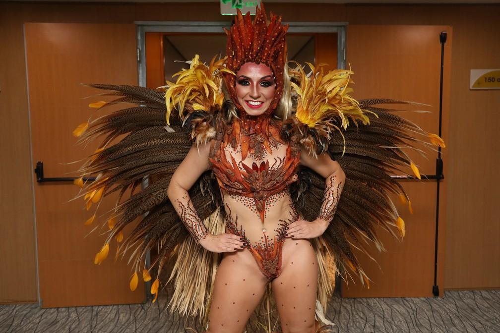 Marina Franco, uma das musas da Águia de Ouro — Foto: Celso Tavares/G1