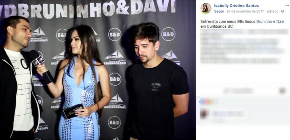 Isa tinha um canal de entrevistas no Youtube (Foto: Reprodução/Facebook)