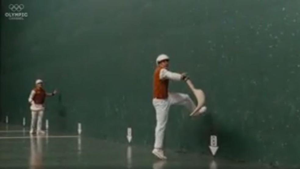 Pelota basca como esporte de demonstração Jogos Olímpicos de Barcelona 1992 — Foto: Reprodução/Olympic Channel