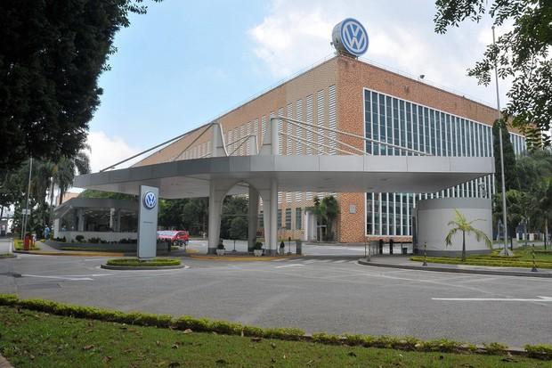 Fachada da fábrica Anchieta da Volkswagen, ABC (Foto: Divulgação)