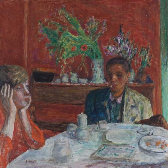 No quadro A sobremesa, de 1921, Bonnard coloca o cão à beira da mesa de refeições (Foto: PIERRE BONNARD/BRIDGEMAN IMAGES/GLOW IMAGES)