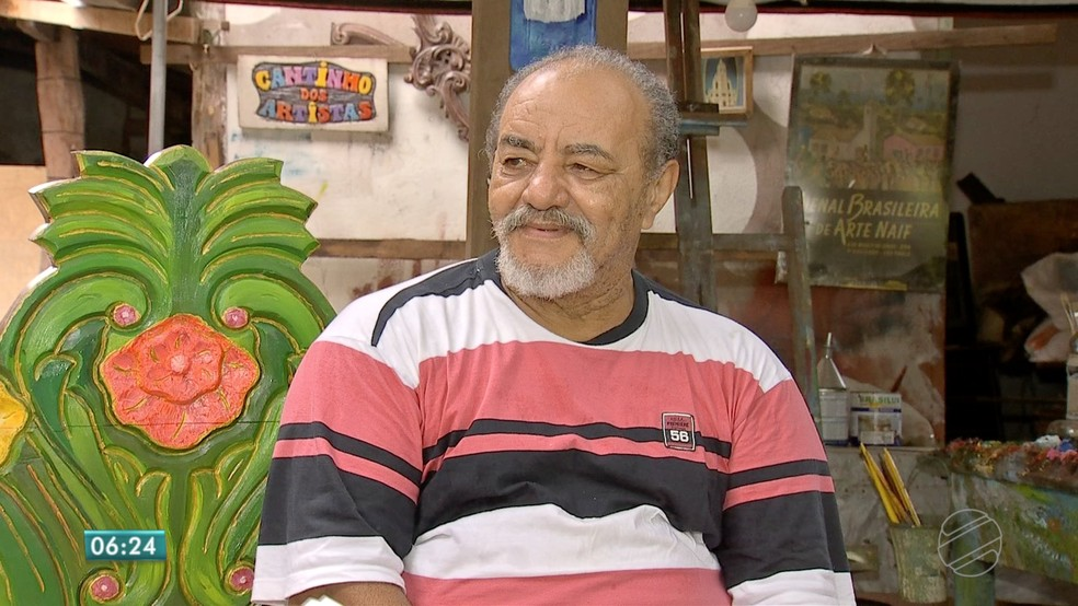 -  Olímpio Bezerra possui obras de arte em acervos de vários países  Foto: TVCA/Reprodução