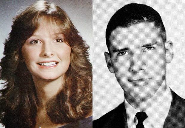 Calista Flockhart e Harrison Ford na adolescência (Foto: Reprodução)