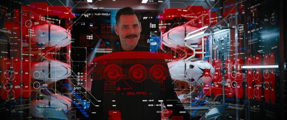Jim Carrey em cena de 'Sonic - O filme' — Foto: Divulgação