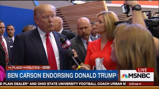 Trump fala sobre apoio de ex-candidato Ben Carson