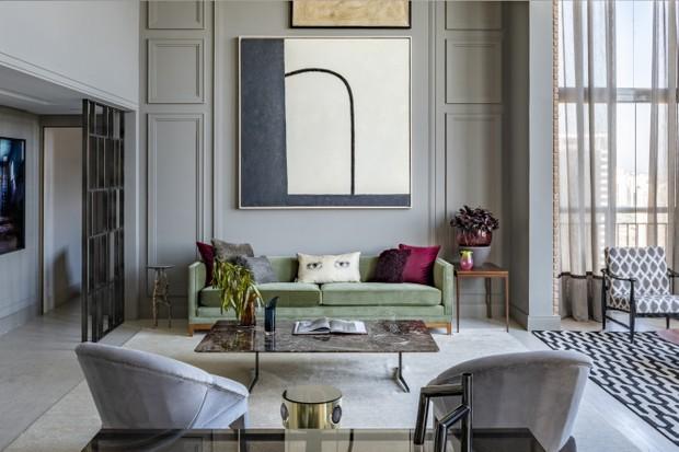 350 m² com décor cheio de personalidade e mix de influências  (Foto: Renato Navarro)