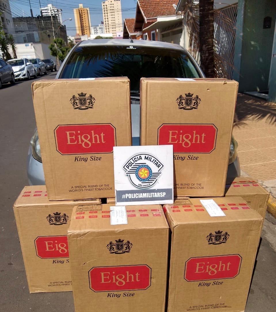 PM apreende 3,5 mil maços de cigarros contrabandeados em Piracicaba