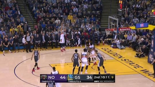 Stephen Curry comanda os Warriors em vitória de virada sobre os Pelicans